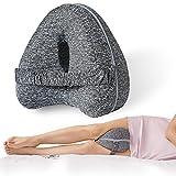 Almohada para Las Rodillas, Cojín para Rodillas para Dormir Suave, Almohada para Piernas Rodillas, Se Utiliza para Corregir la Postura para Dormir (Gris Oscuro)