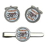 Giftshop UK Harley Corredor Moto Gemelos y Corbata Clip Set