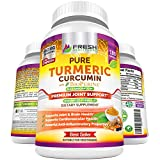Turmeric Curcumin Max Potency 1950mg with 95% Curcuminoids Extract - 180 Capsules - Bioperine Black Pepper for Best Absorption and Joint Support and Pain Relief Vegan Supplement