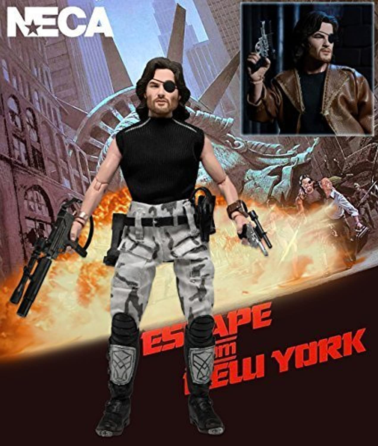 exclusivo NECA Escape from New York 8  Clothed Retro Style Style Style Acción Figura Snake Plissken Kurt Russell by NECA  mejor servicio