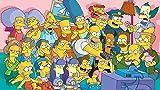 leomuzi Puzzle de 1000 piezas de los Simpsons Watching Impossible rompecabezas para adultos y niños, liberación del estrés para papeles.