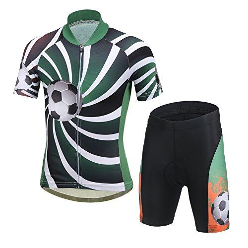 LPATTERN Ropa Conjunta de Ciclismo Bicicleta Maillot de Manga Corta + Pantalones...