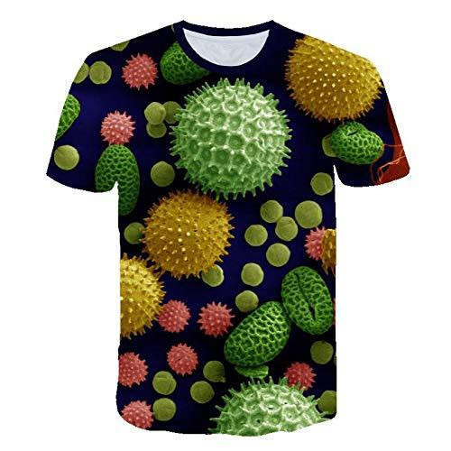 YDXH Estate 2020 Nuovo Covid-19 Nuovo coronavirus Manica Corta Modello T-Shirt,1,XXXXXXL