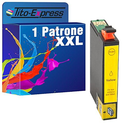 Tito-Express PlatinumSerie 1x Druckerpatrone XXL TE0714 Yellow mit Chip und Füllstandsanzeige für Epson Stylus DX 7400