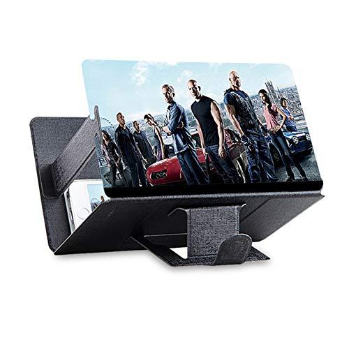 Haplws Amplificateur d'écran de téléphone Portable, Amplificateur vidéo Mobile Support de Support de téléphone Portable Loupe Amplificateur vidéo à grossissement 3D pour Tous Les modèles