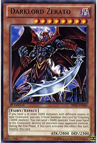 YuGiOh   BP02-EN060 1st Ed Darklord Zerato Mosaic Rare Card - ( War of the Giants Battle Pack Yu-Gi-Oh  Single Card ) by Deckboosters
