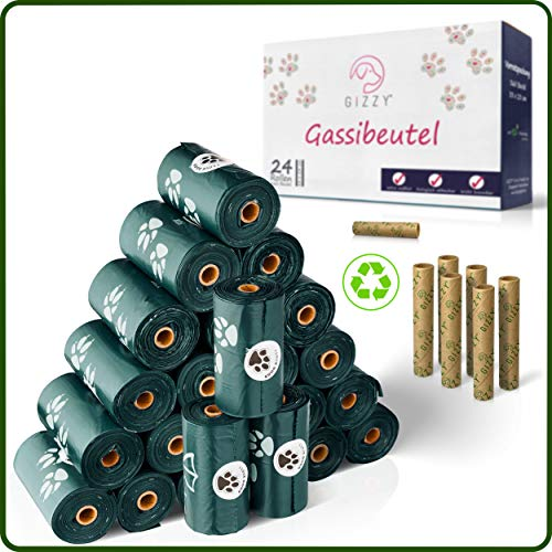 GIZZY 360x Hundekotbeutel - biodegradable - Extra Reißfeste & Besonders Leicht Trennbare Kotbeutel für Hunde - Dog Poo Bags - Hundebeutel - Bag