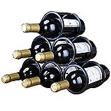 Botellero para 6 Botellas Acero Inoxidable Botellero de Vino Estable Ligero Fácil de Instalar Botellero Vino Se puede Colocar Horizontal o Verticalmente/A