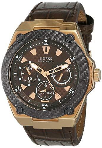 GUESS Reloj para de Cuarzo con Correa en Cuero W1058G2