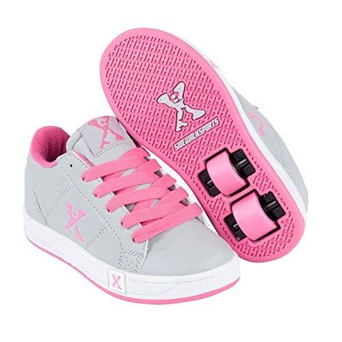 Sidewalk Sport Kinder Mädchen Lane Heelys Rollenschuhe Sneaker Mit Rollen Schuhe, Grey/Pink, 5