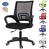 <span class='highlight'><span class='highlight'>EUCO</span></span> Black Desk Chairs Executive Office Chair Ergonomic Adjustable Task Chair Comfy Padded Mesh Chair