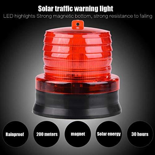 Weiyiroty Luces de Advertencia, luz de Emergencia LED de 4.53 Pulgadas DC 12v -14V, Luces estroboscópicas súper Brillantes, para vehículos para Camiones(Red)