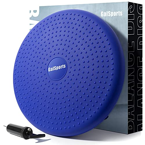GalSports Core Balance Disc - Home Exercise Wobble Cushion (Free Guide),...