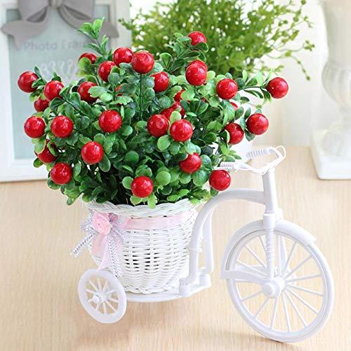 Lamf Fahrrad künstliche Blume Dreirad Blumenkorb Garten Nostalgie Fahrrad künstliche Blume Deko Pflanzenständer Mini Fahrrad Blumenständer für Zuhause Hochzeit Dekoration
