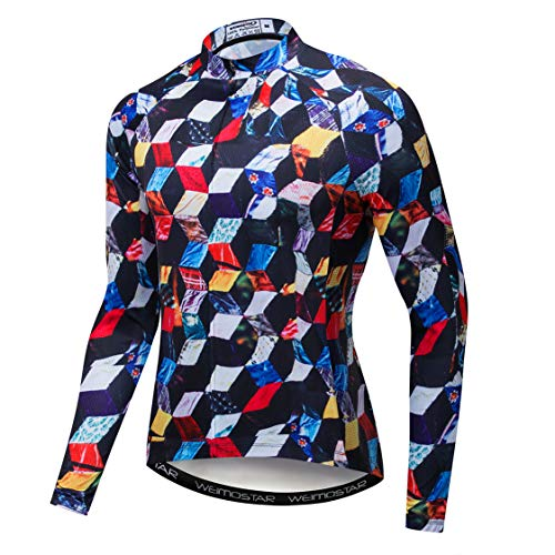 Weimostar Maillot de ciclismo de montaña para hombre, Hombre, color 8241 multicolor,...