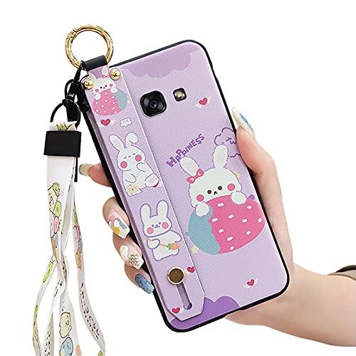 Flexible Dibujos Animados Lulumi Funda para Samsung Galaxy A7 2017/A720, Cordón TPU Caucho Brillo Pulsera Resistente a la Suciedad Diseño Lindo para Las niñas Diseñador Anti-Polvo, Conejo Púrpura