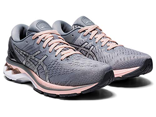 ASICS Women's Gel-Kayano 27 Running Shoes, 8.5M, Sheet Rock/Pure Silver