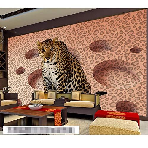 Rureng Moderne Hintergrund Große Malerei Tier Leopard Spots Circle Wall Murals 3D Wallpaper Zu Bel Badroom Wandbild Für-400X280Cm