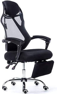 LJFYXZ Home Computer Silla, Silla de Oficina Mesh Swivel Chair Lifting handrail Black