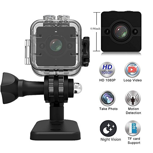 MINGYY Sport Video Camera Camcorder Mini USB DVR Cam 1080P HD Night Vision Hidden Camera 155-degree Wide Angle Lens Surveillance Camera with Waterproof Case Cameras Motion Detection for Home Car