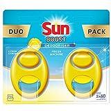 Sun Désodorisant Pour Lave-Vaisselle, Expert Odeur Contrôle, Parfum Citron, Efficace jusqu à 60 lavages, Duo Pack