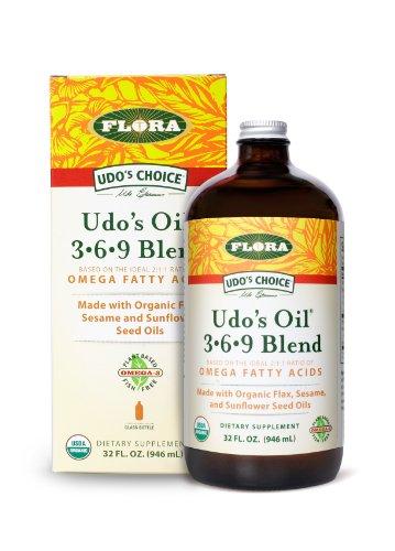 Flora - Udo's Choice, Omega 369 Oil Blend, Brain Health, 32 Fl Oz