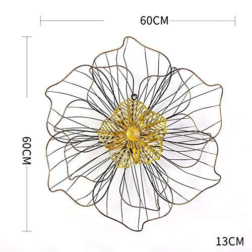 YUELI Nueva Flor De Hierro Forjado Chino Colgante De Pared Decorativo 3D Artesanía De Pared Decoración Hogar Sala De Estar Fondo Mural, Multicolor
