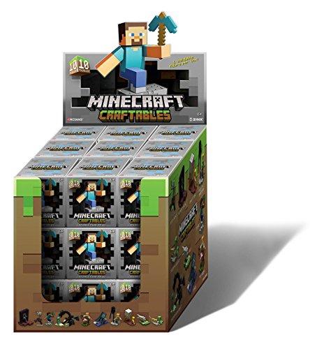 Minecraft 52048MN - Craftables, Ein Artikel aus 10 verschiednene Designs, schwarz/grün, ( sortiert )
