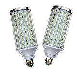 Luz LED tipo maíz, paquete de 2, E27 Lámpara LED tipo maíz blanco frío, 8000 lúmenes para iluminación de poste de alumbrado público, garaje, fábrica, almacén, superbrillante, 80 W (equivalente a 700