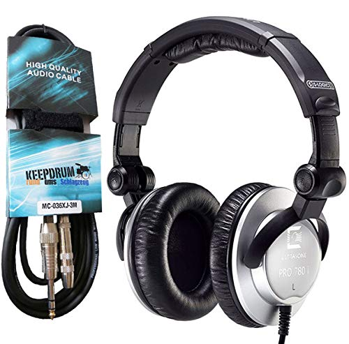 Ultrasone PRO780I Studio-Kopfhörer geschlossen + keepdrum Verlängerungskabel 3m