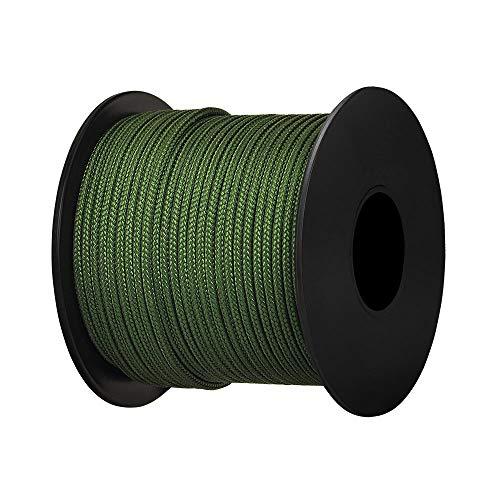 Brotree Paracord Nylon Seil mit 3 Strängen Fallschirmschnur Reißfestem Kernmantel Seil (Standard, Reflektierende)