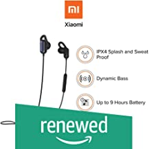 (Renewed) Just Launched: Mi Sports Bluetooth Wireless Earphones with Mic (Black)