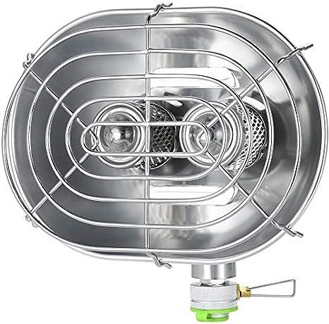 Estufa de calefacción de doble cabeza, calentador portátil de ...