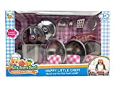 Papa N Me Store The Best 11 Pieces Mini Size Kitchen Pretend Toys Stainless Steel Cookware Playset for Kids