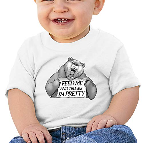 Feed Me and Tell Me I'm Pretty Baby T-Shirt,Baby T Shirts 6-24 Months