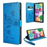 ivencase für Samsung Galaxy A41 Hülle Flip Lederhülle, Samsung Galaxy A41 Handyhülle Book PU Leder Tasche Hülle mit Kartenfach & Magnet Kartenfach Schutzhülle für Samsung Galaxy A41 (Blue)