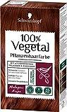 SCHWARZKOPF 100% VEGETAL Coloration Mahagoni Stufe 3, 3er Pack (3 x 80 ml)