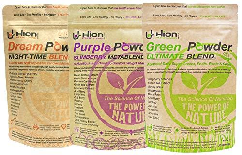 Save £26! Hion Combo Pack - Green Powder, Purple Powder & Dream Powder