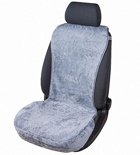 kuschelweiche Universal Lammfell Autositz Auflage grau für alle PKW, Sommer + Winter, 100{c2f7991c3fb99eef509642b2ff0c0456497b3a7de51d441fa747a10b2605e4fb} australische Lammfelle