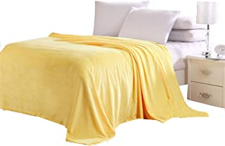 yellow grey throw blanket