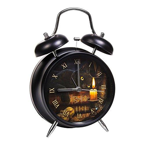 Nemesis Now Reloj Despertador Hora de las Brujas por Lisa Parker (Negro)