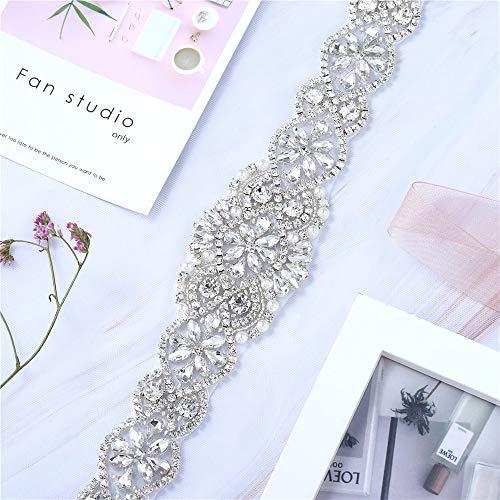 Brautkleid, Hochzeitskleid, Schärpe, Gürtel, Applikation, für Damen, Abendkleid, Abschlussball, Kleidung – Silber