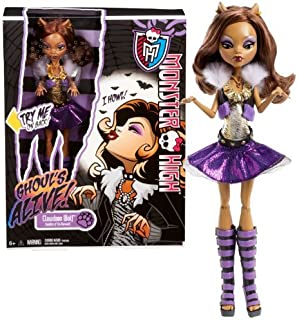 "Mattel Year 2012 Monster High ""Ghoul's Alive!"" Series 11 Inch Electronic Doll Set - CLAWDEEN WOLF ""Daughter of The Werewolf"" with Closing Eyes and Howling Sound Plus Doll Stand"