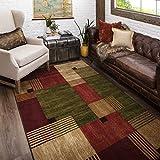 Mohawk Home New Wave Alliance Geometric Area Rug, 6'x9', Tan/Red/Green