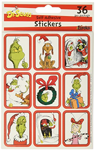 "Eureka Dr. Seuss ""The Gr"" Stickers - DISCONTINUED by Manufacturer"