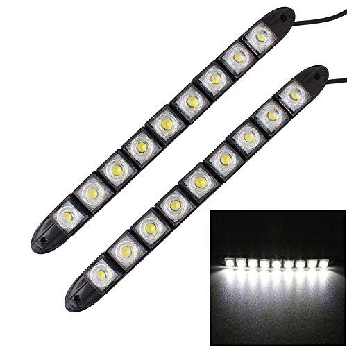 Konglz 2 stuks 4,5 W 9 LED SMD 5050 flexibele slang LED dagrijverlichting voor auto, 12 V DC