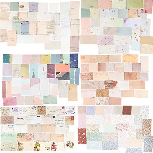 360 Blätter Scrapbooking Papier Klein Vintage Blumen Scrapbooking Zubehör Dekopapier Scrapbooking mit vielen Motiven für Tagebuch Notizbuch DIY Kunst und Handwerk
