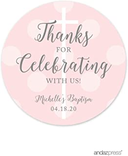 personalised baptism stickers