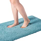 Bathroom Rug Mat, Extra Soft and Absorbent Bath Mat, Machine Washable Carpet Quick Dry, Non Slip Floor Mat for Tub, Shower, Bath Room, 24''x16'', Turquoise, W.chanson