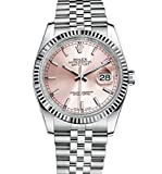 Rolex Datejust 36 Stainless Steel Watch Pink Dial 116234